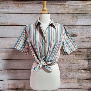 Vintage AlfredDunner Multicolor Striped Buttondown